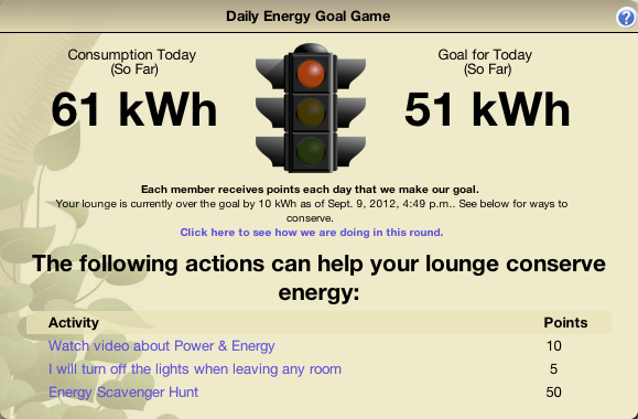 Daily Energy Goal Game