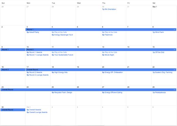 Sample challenge lasting one month